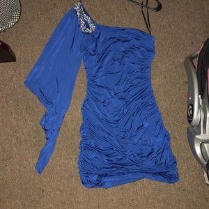 Sexy dress— Blue
